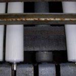 JPS rollers installed in a live roller conveyor